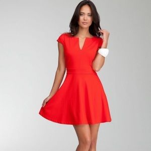 Bebe Red Dress with Pockets